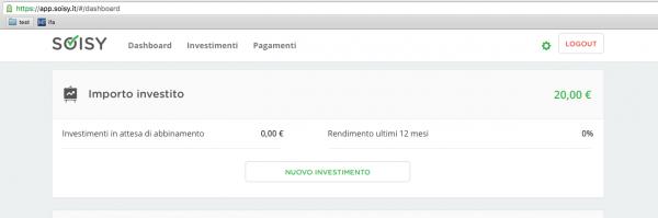 Schermata Nuovo Investimento