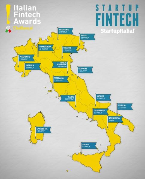Mappa dele Startup Fintech in Italia