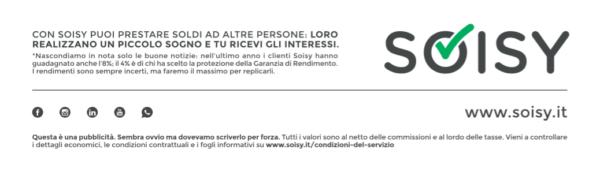 Note legali pubblicità Soisy Corriere Economia