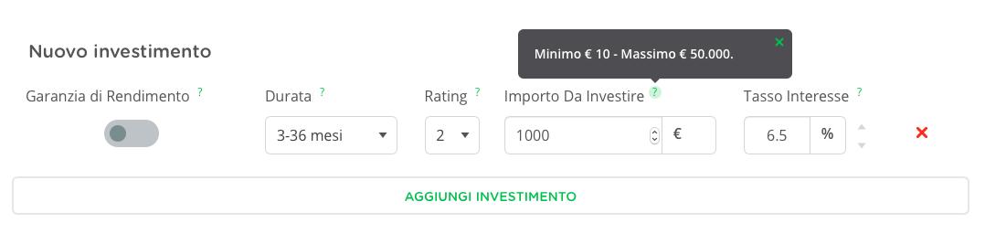 Tooltip per investire